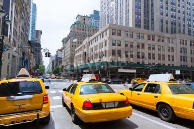 Bild New York City Manhattan Fifth Avenue 5th Av gelben Taxi US