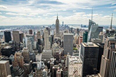 Bild New York City Manhattan Midtown Gebäude Skyline-Blick