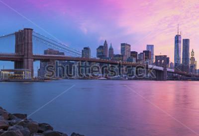 Bild New York City Manhattan panorama at sunset