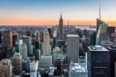 Bild New York Skyline at sunset