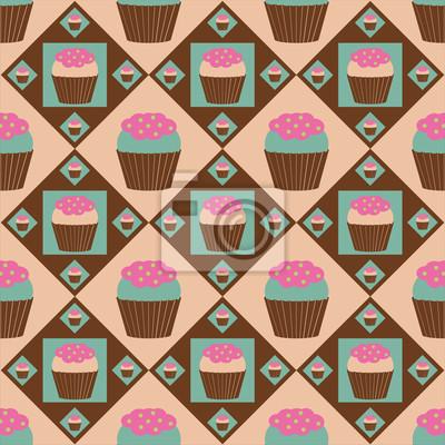bild niedlichen kuchen muster - Kuchen Muster