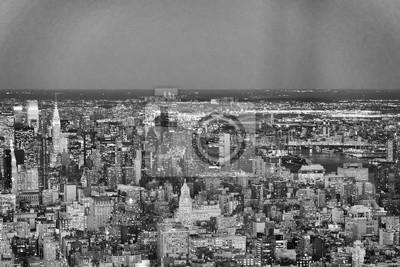 Bild Night aerial view of Midtown Manhattan from a high vantage point, New York City