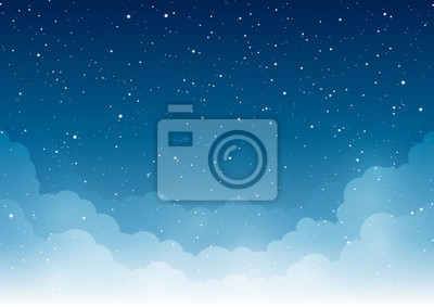 Bild Night starry sky with clouds for Your design