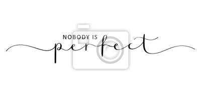 Bild NOBODY IS PERFECT brush calligraphy banner