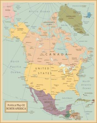 Bild Nordamerika-sehr detaillierte map.Layers verwendet