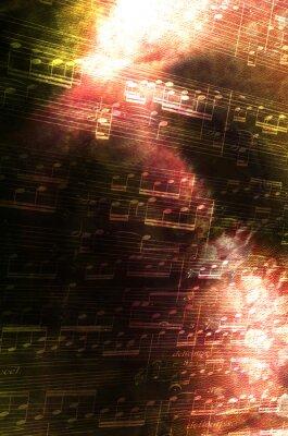 Bild Noten mit abstraktem Hintergrund