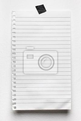 Notepad-Seite an der Wand