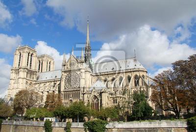 Notre Dame von Paris Seitenansicht