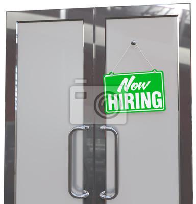 2be095d99c186 Now hiring hilfe zeichen in den geschäfts tür leinwandbilder ...
