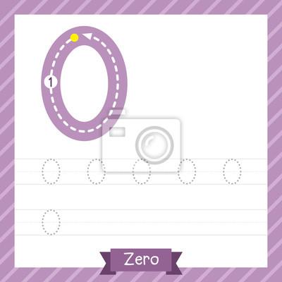 Nummer zero tracing praxis arbeitsblatt für kinder lernen zu ...