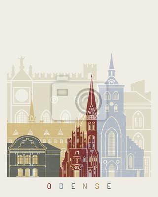 Bild Odense Skyline Poster