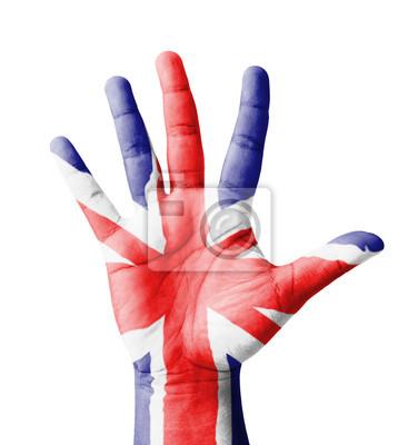 Offene Hand hob, Mehrzweck-Konzept, lackiert UK Flagge