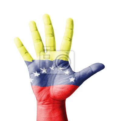 Offene Hand hob, Mehrzweck-Konzept, lackiert Venezuela Flagge