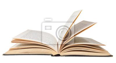 Bild offenes Buch auf weißem Hintergrund
