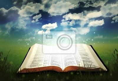 Öffnen Sie Bibel Glowing