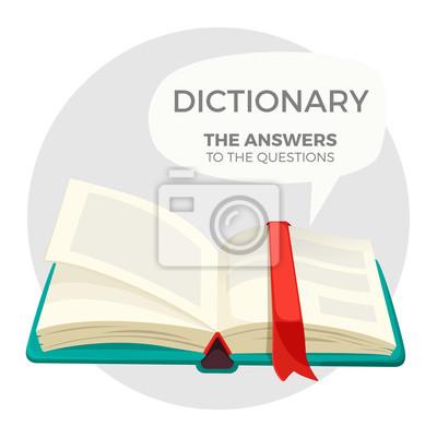 Bild Öffnen Sie das Wörterbuch mit allen Antworten auf Fragen