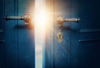Bild Öffnen Sie die blaue Tür