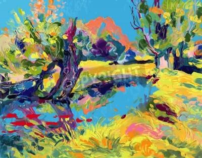 Bild oil painting vector illustration. I, the Artist, owns the copyright