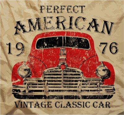 Bild Old American Auto-Weinlese-T-Shirt Graphic Design