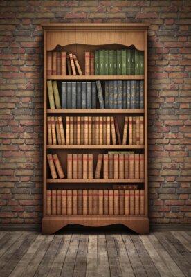 Bild Old Bücherregal im Zimmer