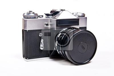 Old entfernungsmesser vintage kamera auf weißem hintergrund