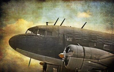 Bild Old Militärflugzeuge, Grunge-Hintergrund