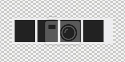 Bild Old photo frame isolated on transparent background. Blank frame vector