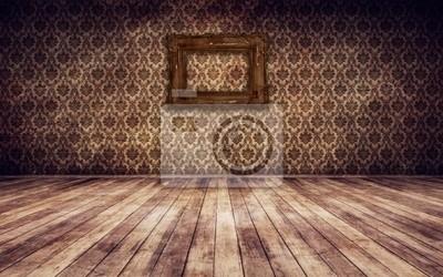 Bild Old vintage Zimmer mit Bilderrahmen