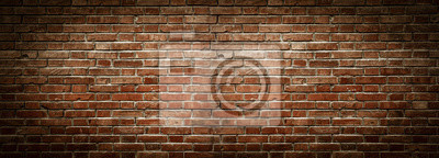 Bild Old wall background with stained aged bricks