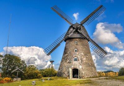 Bild Old windmill by summer day