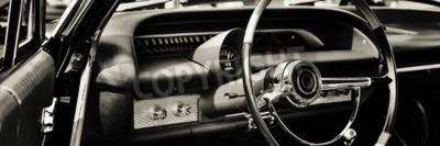 Bild Oldtimer von Fahrerseite fotografiert