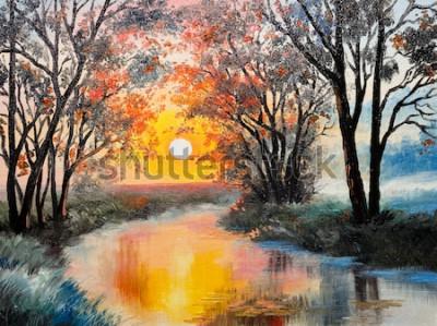 Bild Ölgemälde auf Leinwand - der Fluss