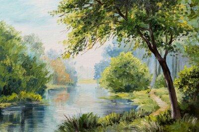 Bild Ölgemälde Landschaft - bunte Wald