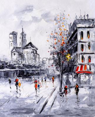 Bild Ölgemälde - Straßenansicht von Paris