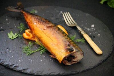 Bild öliger Fisch
