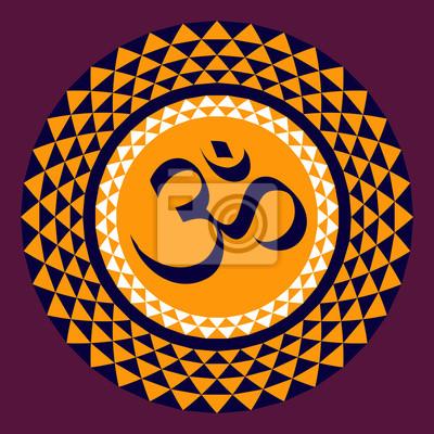 OM; ein heiliges Symbol des Hinduismus und Buddhismus.