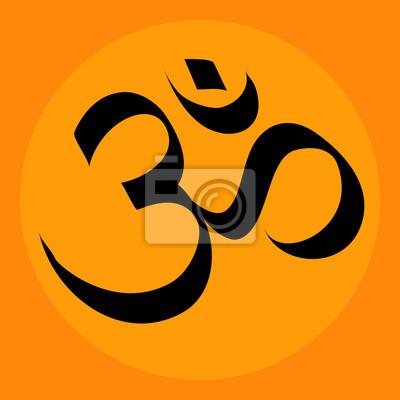 OM in der Tausend Blumenblatt-Lotus; ein heiliges Symbol des Hinduismus und Buddhismus.