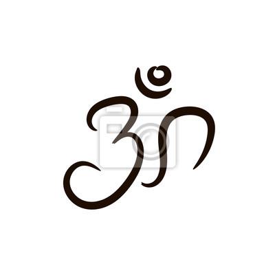 Beliebt Bevorzugt Om zeichen von hand gemalt. das heilige symbol im buddhismus #JI_86