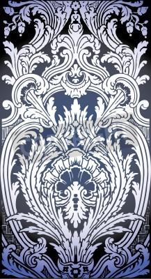 Bild one patron of seamless pattern of Luis XIV bedroom