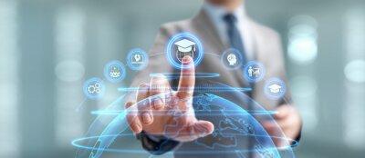Bild Online education internet learning e-learning concept on digital interface.