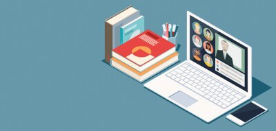 Bild Online learning and virtual classroom