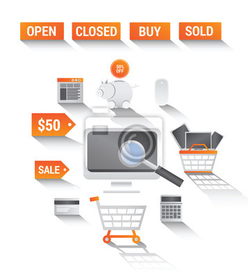 Online-Shopping-Vektor