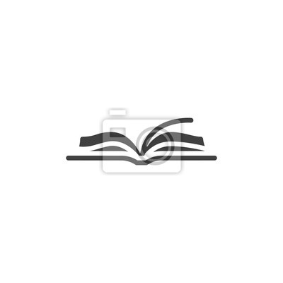 Bild Open book vector icon. filled flat sign for mobile concept and web design. Book pages glyph icon. Symbol, logo illustration. Vector graphics
