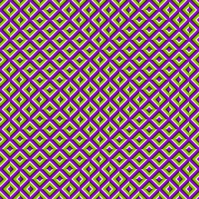 Optical illusion seamless pattern of moving squares.