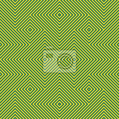 Optical motion illusion seamless pattern. Yellow green striped moving ornament.