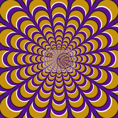 Optische Bewegung Illusion Hintergrund.
