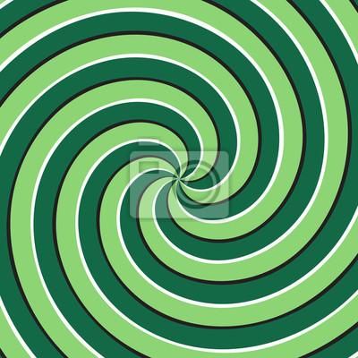 Optische Bewegung Illusion Hintergrund. Grüne mehrfache Spiraloberfläche.