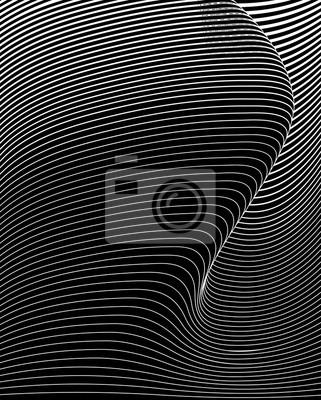 optische Kunst abstrakten Hintergrund Welle Design schwarz und weiß