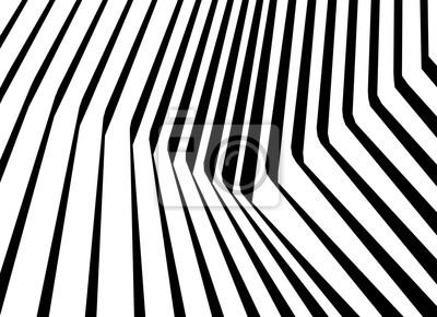 optische Kunst abstrakten Hintergrund Welle Design schwarz-weiß Op-Art