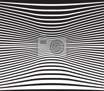 Optische Kunst Hintergrund Welle Design schwarz und weiß